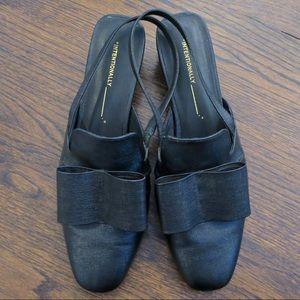 Intentionally blank slingback bow heel